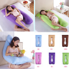 Woemns U Shape Maternity Body Pillow Case Printing Pregnant Sleepers Pillow New