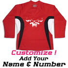 Danzig Skull Punk Band Hockey Practice Jersey Optional Name & Number - Red