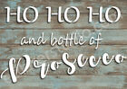 HO HO HO and bottle of Prosecco Quote Stencil Vintage Shabby Chic Craft  CH33