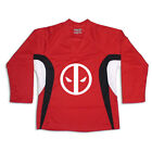 Dead Pool Multi Color Hockey Jersey Optional Name & Number - Red