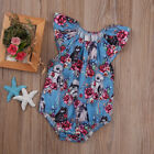 Newborn Baby Star Wars Clothes Romper Girls Cute Floral Jumpsuit Bodysuit Outfit $4.65 USD