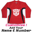 Robots Hockey Practice Jersey Optional Name & Number - Red