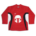 Boba Fett Star Wars Multi Color Hockey Jersey Optional Name  Number Red