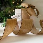 QUALITY HESSIAN RIBBON WIRE EDGED  RUSTIC BURLAP BROWN GIFT WRAPPING 'HESSIAN'