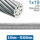 Wire Rope 3.2mm 1x19 316 Marine Grade Stainless Steel Balustrade Cable Decking
