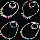 Children's Jewelry Kids Set Baby Cute Necklace Bracelet Colorful Beads Gift
