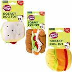 Plush Squeaky Chew Fast Food Shaped Stuffed Dog Puppy Toy Game