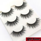 Fashion Beauty 100% Real Mink 3D Volume Comer Thick False Eyelashes Strip Lashes