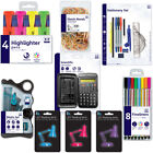 STATIONERY School Set Scientific Calculator Pen Pencil Ruler Highlighter Stapler