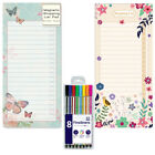 Magnetic Fridge Freezer Notepad Shopping List and Fineliner Pen's Home Planner