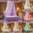 Mosquito Net Bed Canopy Lace Luxury Round Princess Fly Screen Indoor Queen King image
