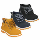 Boys High Top Ankle Boots Kids Lace Up Youth Children Casual Winter Fashion New