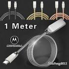 Metal Specimen C USB Phone Data Sync Charger Cable For Motorola Moto Z2 Play