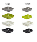 Whitefurze Plastic Dish Drainer Plate and Cutlery Rack Sink Tidy Kitchen Home