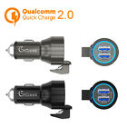 4.8A Quick Charge 2.0 Dual USB Car Charger Metal Car Power Adapter Escape Cutter
