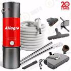 Allegro Central Vacuum 3000 sq ft 35' Hose Electrolux Powerhead delux Package
