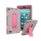 Hybrid Rugged Shockproof Stand Case For Amazon Kindle Fire 7 7th Gen 2017 Tablet