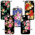 Floral iPhone case with pretty nice vivid pink red yellow rose colorful flowers