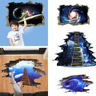 3D Galaxy Earth Space Moon Planet Wall Stickers Sky Decals V