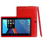 7'' INCH QUAD CORE HD TABLET FOR KIDS CHILD Android 4.4 KITKAT DUAL CAMERA WiFi