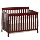 5-in-1 Convertible Nursery Baby Bed  Furniture Full Safety