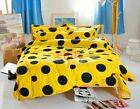Yellow Single Full Queen Size Bed Set Pillowcases Quilt/ Duvet Cover 4 Pcs H-01
