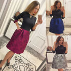 Party Cocktail Short Dress Retro Vintage Rose Bodycon Mini Dress Fashion Womens