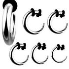 1 Steel Curved Hook Claw Ear Taper Stretcher Expander  0g 2g 4g 6g 8g 10 12g 14g