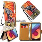 Leather Wallet Stand Magnetic Flip Case Cover For Various LG Phones + Strap