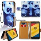 Leather Wallet Stand Magnetic Flip Case Cover For Various Motorola SmartPhones
