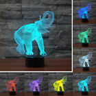 3D LED Illusion Novelty Lights Elephant Pattern Table Lamp 7 Colors USB lamp