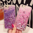 Charm Glitter Hearts Liquid Back Phone Case Cover Apple iphone 6/6s/7 plus Cases