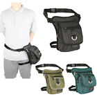 Men Women Nylon Canvas Leg Bag Thigh Bag Fanny Pack Hip Bag Shoulder Fishing Bag