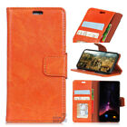 For iPhone 8 7 Plus Genuine Premium Leather Wallet Card Holder Case Cover Stand