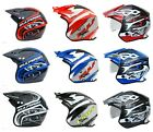 New Wulfsport Trials Helmet Choose from Fibreglass, Drop down visor or Action