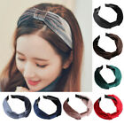 Women Girls Knot Turban Wide Headwrap Vintage Velvet Headband Hair Accessory 1PC