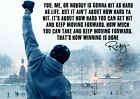 Rocky Poster, Rocky Balboa. Sylvester Stallone, Inspirational Quote