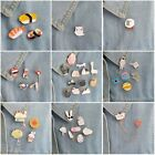 1 PC Enamel Brooch Pins Tops Shirt Collar Pin Jacket Lipstick Ring Heart Glasses
