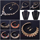 Fashion Wedding Party Jewelry Charm Crystal Earring Statement Necklace Ladies