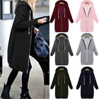 US Women Warm Zipper Hoodie Sweater Hooded Long Jacket Sweatshirt Coat Outwear