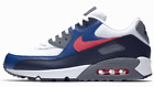 New NIKE Air Max 90 Essential Mens white blue solar red sneaker all sizes