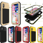 Waterproof Shockproof Heavy Duty Aluminum Metal Cover Case iPhone X 8 6S 7 Plus