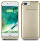 iPhone 8 Plus/7 Plus Rechargeable Battery Case Slim Portable Power Charger Cover