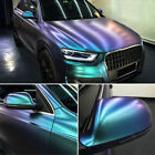 Gloss Metallic Chameleon Purple Teal Vinyl Wrap Sticker Sheet Air Bubble Free