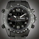 INFANTRY MENS LED DIGITAL ANALOG WRIST WATCH DUAL TIME MILITARY  STAINLESS STEEL