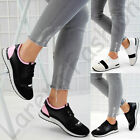 New Womens Running Trainers Band Lightweight Gym Slip On Bali Flat Shoes Sizes