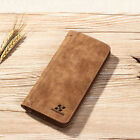 Men Leather Long Bifold Money Purse Card Holder Business Travel Clutch Wallet