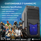 Windows 10 Customised i7 Quad Core Gaming Tower 16GB / 8GB DDR3 PC Computers