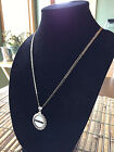 STERLING SILVER ROPE PENDANT W  NFL OAKLAND RAIDERS c SETTING JEWELRY GIFT