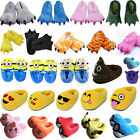Adults Kids Slippers Cartoon Cosplay Winter Warm Plush Stuffed Indoor Home Shoes